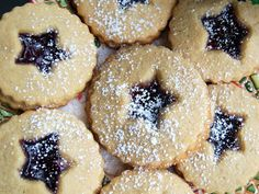 This cookie is good anytime of the year, but I do keep this one special for my Christmas cookie tray. Its so festive with the powdery sugar ...