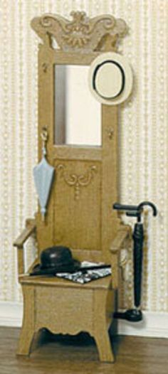 Dollhouse Miniature Hall Stand Kit by Chrysnbon #Chrysnbon