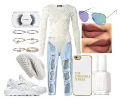 """""""Untitled #360"""" by the-fashion-fantasy ❤ liked on Polyvore featuring Chicnova Fashion, Pilot, Sole Society, BaubleBar, Boohoo, Essie, NIKE and MAC Cosmetics"""