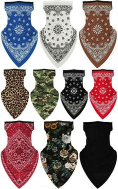 Unisex Bandana Fabric Face Covering Mask Washable Balaclava Earloops Scarf Lot Bandana Styles, Bandana Scarf, Balaclava, Neck Scarves, Kids Clothing, Scarf Wrap, Kids Outfits, One Piece, Unisex