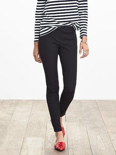 I have about 47 pair of these black pants! Great with everything...and it's probably time I add a little variety to my wardrobe.  :)  Sloan-Fit Slim Ankle-Zip Pant | Banana Republic. I have about 47  pair of these pants. I love them, but even my best friends think I need a little variety. :)