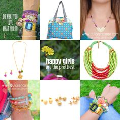 Compra tus accesorios desde la comodidad de tu casa u oficina en www.dulceencanto.com #accesorios #accessories #aretes #earrings #collares #necklaces #pulseras #bracelets #bolsos #bags #bisuteria #jewelry #medellin #colombia #moda #fashion