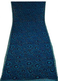 Long Chiffon Saree FabricPrinted Vintage Saree Indian Traditional Wrap Women Dress Sari Soie Antique Decorative Recycle Material 5YD -ASS810