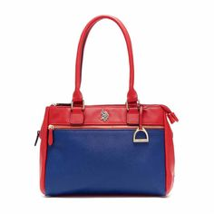 U.S. Polo Assn. Jenna Triple Entry Satchel - Uspa - Blue - Size One... (5.605 RUB) ❤ liked on Polyvore featuring bags, handbags, handbag satchel, red purse, navy blue satchel, white purse and navy purse