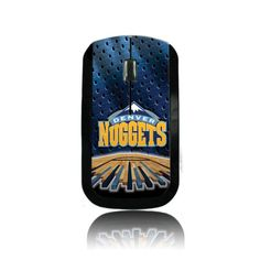 NBA Denver Nuggets Wireless USB Mouse  https://allstarsportsfan.com/product/nba-denver-nuggets-wireless-usb-mouse/  Fan-tastic full color printing. Not a sticker or wrap! Sleek enough for travel, large enough for comfortable desktop use. New micro-transmitter stores inside mouse. Advanced power management and on/off switch for long battery life; Reliable 2.4g wireless micro transmitter; Easy plug-and-play...