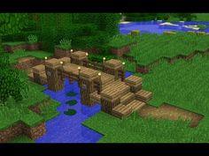 Minecraft: How to build a Simple Bridge Casa Medieval Minecraft, Minecraft Farm, Minecraft Images, Minecraft Cottage, Easy Minecraft Houses, Minecraft Plans, Minecraft House Designs, Minecraft Decorations, Minecraft Construction
