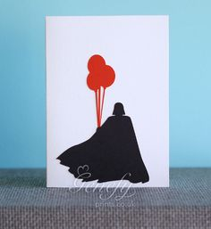 Star Wars Darth Vader Silhouette Card perfect for birthdays, anniversaries, party invitations www.genefyprints.co.uk