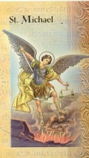 Biography Card of St. Michael the Archangel 2 Page Biography, Card. Includes : Name Meaning, Patron Attributes, Prayer , Feast Day. Wonderful gifts to teach about each Saint. Catholic Books, Catholic Gifts, Good Prayers, Catechism, Guardian Angels, Names With Meaning, Italian Art, St Michael, Biography