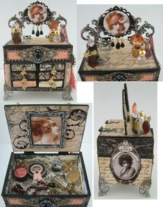 Artfully Musing: Video Tutorial – Making a Chest Out Of Matchboxes – Designed for Alpha Stamps