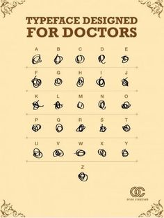 Typeface designed for doctors