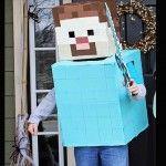 Minecraft Steve Halloween Costume | Inhabitots Green Halloween Costume Contest