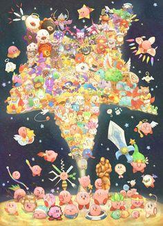カービィ Kirby「ありがとう」/「染はる」のイラスト [pixiv]