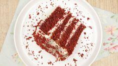 Cook'n Enjoy | Bolo Red Velvet Receita Red Velvet, Bolo Red Velvet, Ethnic Recipes, Album, Cake Recipes, Desert Recipes, Light Pasta, Powdered Sugar, Shapes