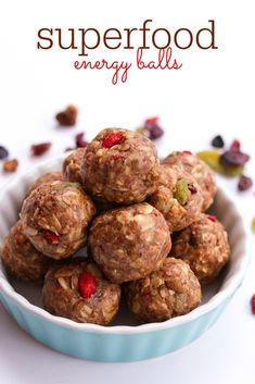 Superfood Energy Balls. You only need 7 ingredients and about 10 minutes to make this healthy snack.