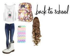 """Untitled #134"" by cupcakegrl12 ❤ liked on Polyvore featuring JanSport, Miss Selfridge, Casetify, Dr. Martens and BackToSchool"