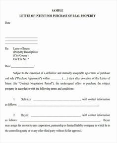 Real Estate Letter Templates Elegant 60 Sample Letter Of Intent