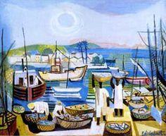 "Di Cavalcanti, ""Aldeia de Pescadores"", c. 1950."