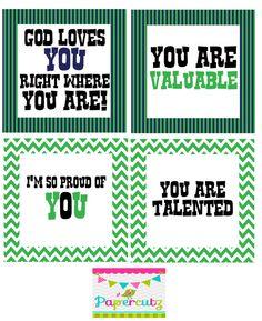 Printable Encouragement Cards