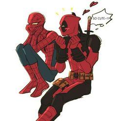 Spiderman X Deadpool - Visit to grab an amazing super hero shirt now on sale! Deadpool X Spiderman, All Spiderman, Parker Spiderman, Deadpool Funny, Spideypool, Superfamily Avengers, Marvel Jokes, Marvel Avengers, Marvel Comics