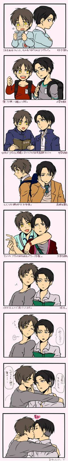 Levi x Eren ~ through the years