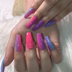 New Tips for acrylic nail designs for summer acrylic nails; Best Acrylic Nails, Acrylic Nail Designs, Nail Art Designs, Fabulous Nails, Gorgeous Nails, Nail Swag, Dope Nails, Stylish Nails, Trendy Nails