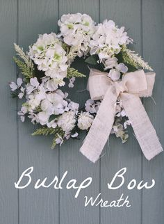 Make your own burlap wreath // DIY Burlap Bow Wreath instructions on Joann.com