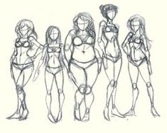 Today's Drawing Class 101: Body shapes | Body Types by lisannexd