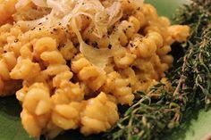 lace and lemon drops: Pumpkin Parmesan Pasta with Fresh Thyme