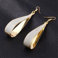 2016 Hot Selling Earings Fashion Jewelry Korean Trend  Rock Club Frosted Water Drop Earrings Jewelry Wedding Earrings
