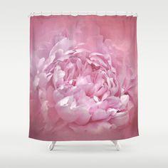 Blushing Pink Peony - Floral Shower Curtain by Jai Johnson - $68.00