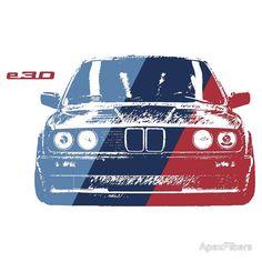 BMW 3 Series (E30) Grungy M stripe overlay
