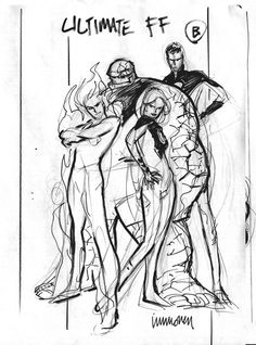 ULTIMATE FANTASTIC FOUR cover sketch,...