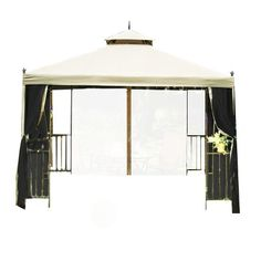 H&ton Bay 10 ft. x 10 ft. Pitched Roof Line Portable Patio Gazebo Replacement Canopy | Gazebo replacement canopy Patio gazebo and Replacement canopy  sc 1 st  Pinterest & Hampton Bay 10 ft. x 10 ft. Pitched Roof Line Portable Patio ...
