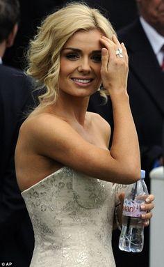 Katherine Jenkins  Look at her. beautiful hair, beautiful smile, beautiful face, perfect curves...disgusting!