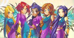 in order - Cornelia, Will, Taranee, Irma, Hay Lin