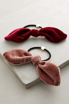Velvet Bow Hair Tie Set More