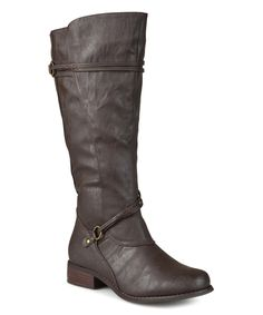 This Journee Collection Brown Harley Extra Wide-Calf Boot by Journee Collection is perfect! #zulilyfinds