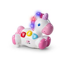 This adorable unicorn gets baby moving! The Rock and Glow Unicorn(TM) from Bright Starts(TM) offers two ways to play; Chase me mode and learning mode. Touch the . Baby Activity Toys, Infant Activities, Baby Girl Toys, Toys For Girls, Toddler Toys, Kids Toys, Glow, Get Baby, Pink Bedding