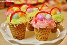 Easter Basket Cupcakes..such a cute idea for after the easter egg hunt!
