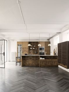 NUDA LAVA - - Designer Natural stone panels from made a mano ✓ all information ✓ high-resolution images ✓ CADs ✓ catalogues ✓ contact. Wide Plank Flooring, Stone Flooring, Modern Interior Design, Interior Styling, Küchen Design, House Design, Design Ideas, Made A Mano, Casa Cook