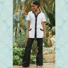 Fashionizer Spa Uniforms - SP-FT-4-BL TAURII Spa Pants Black