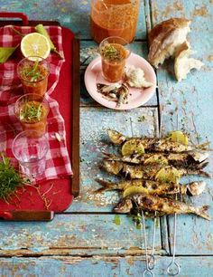 grilled sardines Gazpacho, Grilled Sardines, Food Photography, Life, Crickets