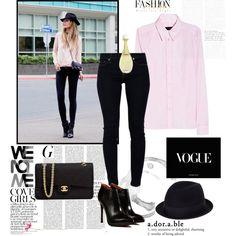 Pantalones negros camisa rosa, una combinación infalible. 1.-J´adore http://fashion.linio.com.mx/a/f