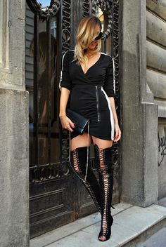Let`s talk about fashion !: Over the knee boots loveKAYA | # All Shoes # High Heels# Boots #Sandals# Open Toe + Peep Toe #BLACK AND WHITE #STREET FASHION #jessicabuurman @jessicabuurman @ manuellal.blogspot