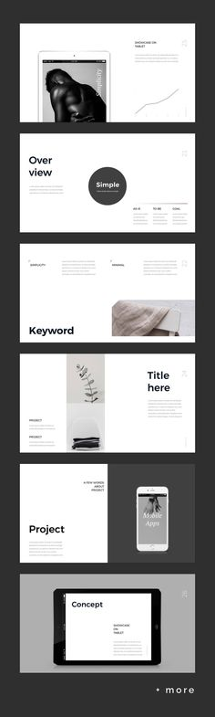 Simple & Minimal Presentation Template #keynote #presentation #simple #minimal #portfolio #business
