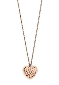 Let Love Blossom Necklace - Pink, Gold, Solid, Flower, Fairytale, Good, Pastel