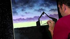 Final Few Sunsets online acrylic landscape painting lessons available at...
