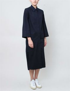 Christophe Lemaire Detachable Collar Dress- Indigo