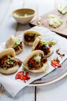 These Cider & Five Spice Steamed Pork Buns are a quick take on a dim sum classic, Char Siu Bao. These pork buns are sticky and sweet with a hit of spice.
