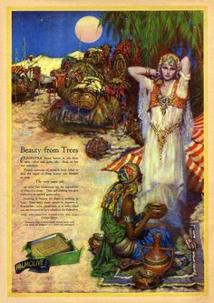 Palmolive Soap ad in the September, 1925 issue of Motion Picture Magazine magazineart.org